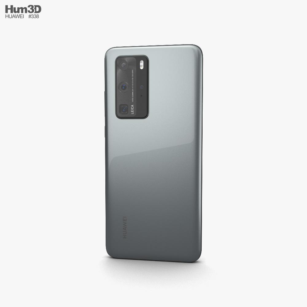 Huawei P40 Pro Silver Frost 3d model