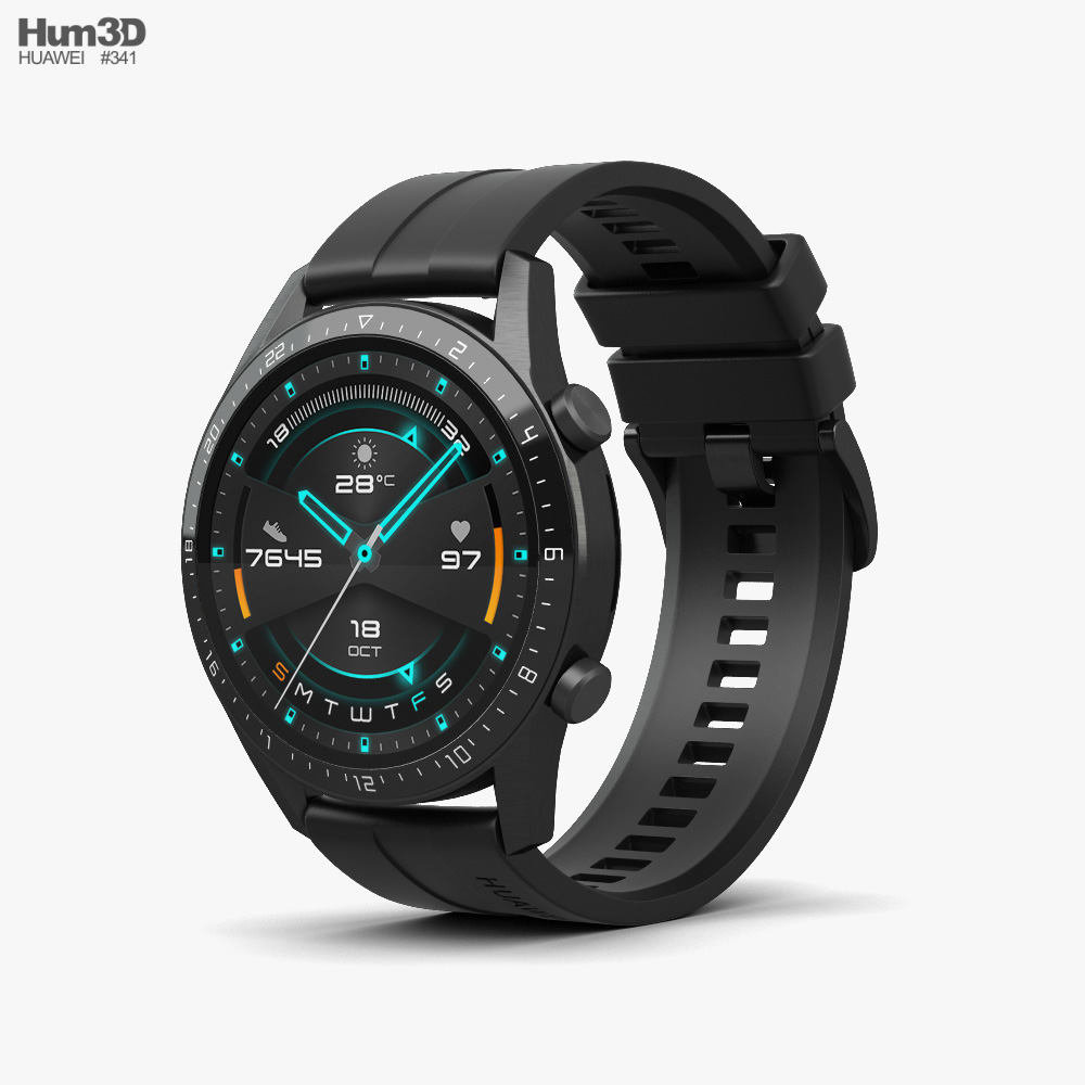 Huawei Watch GT 2 Black 3d model