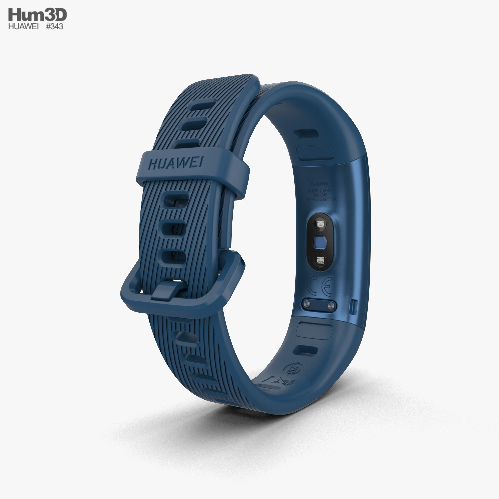 Huawei Band 3 Pro Blue 3d model