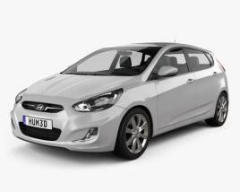 Hyundai Accent (i25) Hatchback 2012 3D model