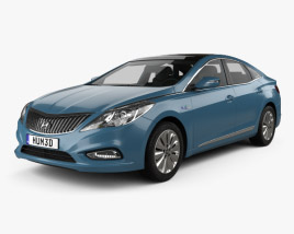 Hyundai Grandeur (HG) Hybrid with HQ interior 2014 3D model