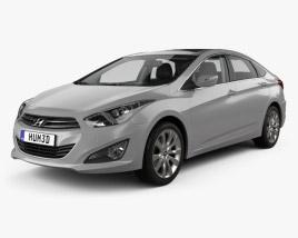 Hyundai i40 sedan with HQ interior 2011 3D model