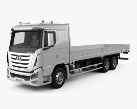 Hyundai Xcient Flatbed Truck 2014 3D model