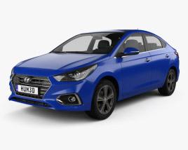 Hyundai Solaris (HCR) 2017 3D model