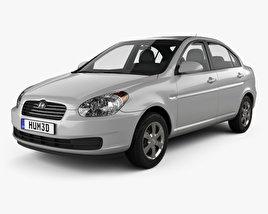 Hyundai Accent (MC) sedan 2006 3D model