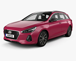 Hyundai i30 wagon 2017 3D model