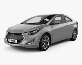 Hyundai Avante coupe 2014 3D model