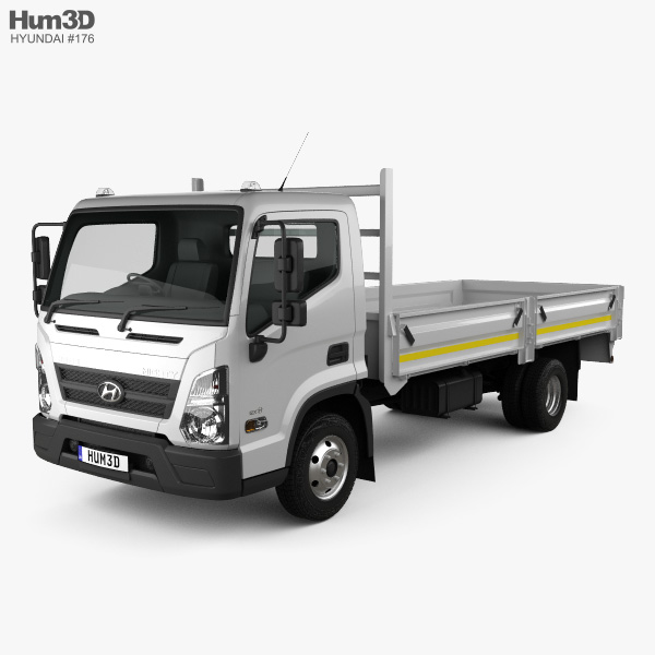 All Hyundai Models Vehicles On Sale In Usa 2018: Hyundai Mighty EX8 Flatbed Truck 2018 3D Model