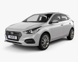 Hyundai Accent hatchback 2017 3D model