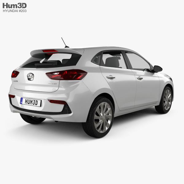 Hyundai Accent Hatchback >> Hyundai Accent Hatchback 2017 3d Model