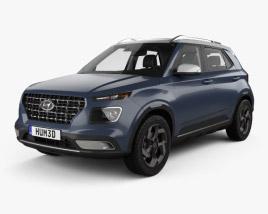 Hyundai Venue with HQ interior 2020 3D model