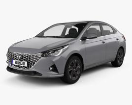 Hyundai Verna sedan 2020 3D model
