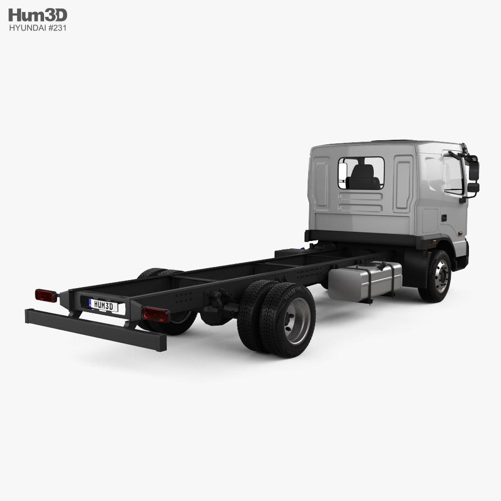 Hyundai Pavise Chassis Truck 2019 3d model