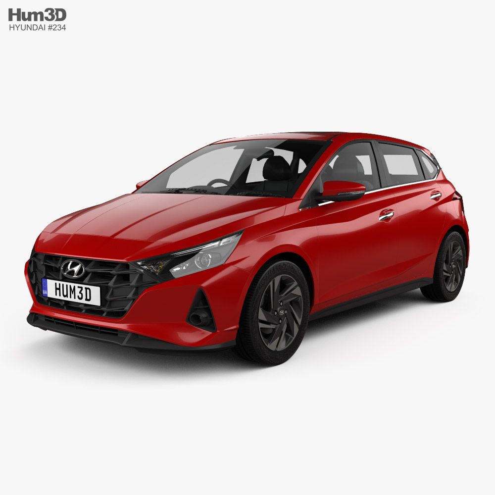 Hyundai i20 Asta 2020 3d model