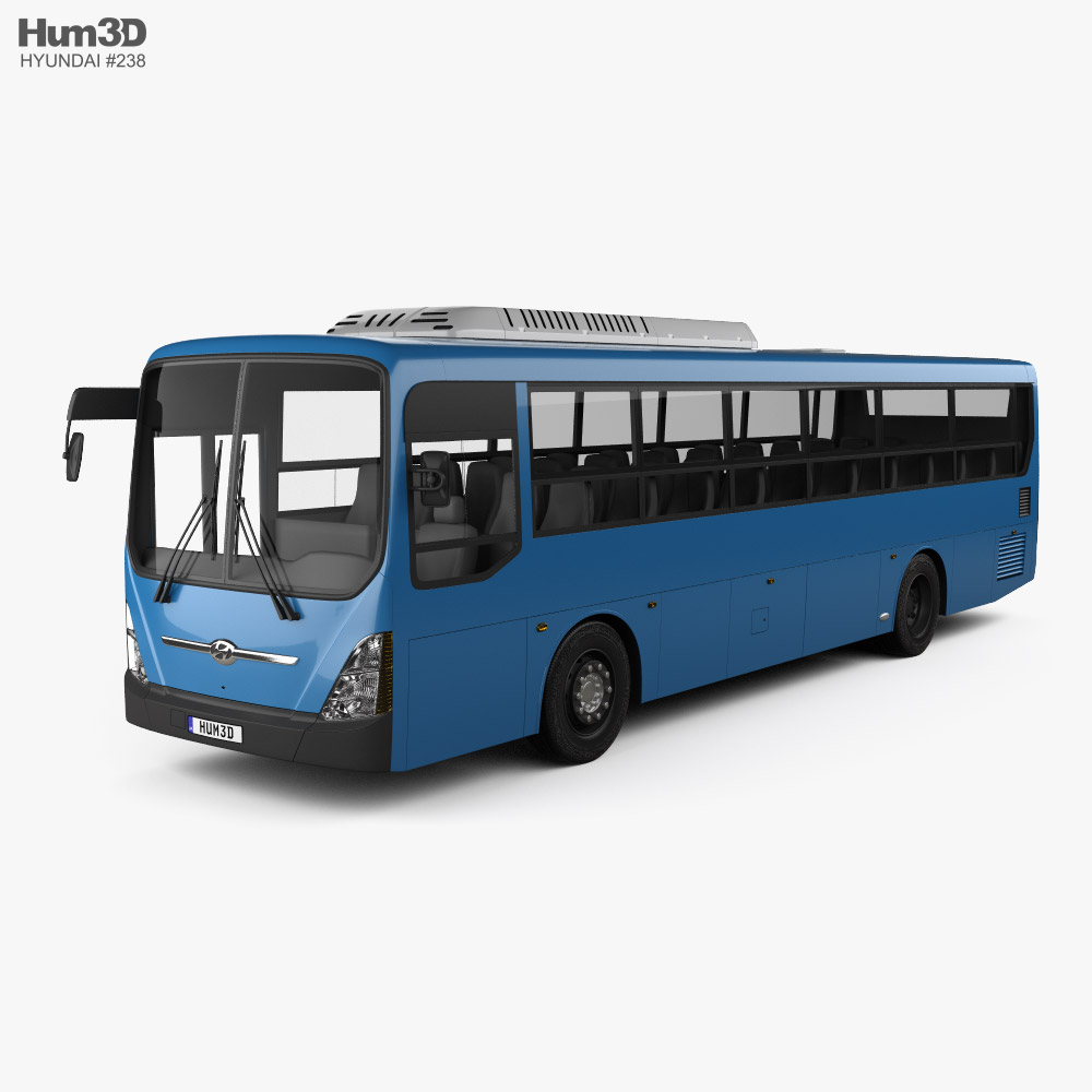 Hyundai Super Aero City Bus 2019 3d model