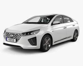 Hyundai Ioniq hybrid with HQ interior 2019 3D model