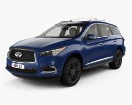 Infiniti QX60 with HQ interior 2016 3D model