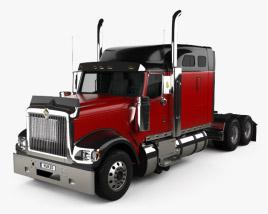 International 9900i Tractor Truck 2004 3D model