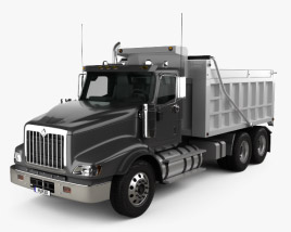 International Paystar Dump Truck 2002 3D model