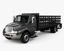International DuraStar Flatbed Truck 2002 3D model
