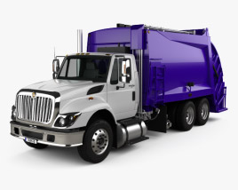 International WorkStar Garbage Truck Rolloffcon 2008 3D model