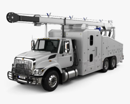 International WorkStar Crane Truck 2014 3D model