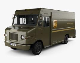 International 1552SC P70 UPS Truck 2015 3D model