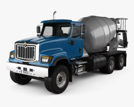 International HX515 Mixer Truck 2016 3D model