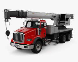 International HX620 Crane Truck 2016 3D model