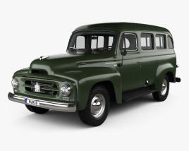 International Harvester R-110 Travelall 1953 3D model