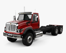 International HV613 Day Cab Chassis Truck 3-axle 2018 3D model