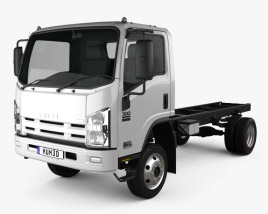 Isuzu NPS 300 Chassis Truck 2015 3D model