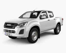 Isuzu D-Max Double Cab Ute SX 2017 3D model