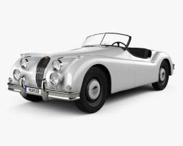 Jaguar XK 140 roadster with HQ interior 1954 3D model