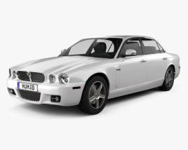 Jaguar XJ (X358) 2007 3D model