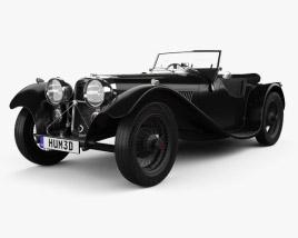 SS Jaguar 100 1936 3D model
