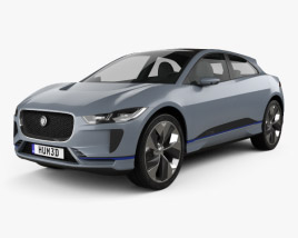 Jaguar I-Pace concept 2016 3D model