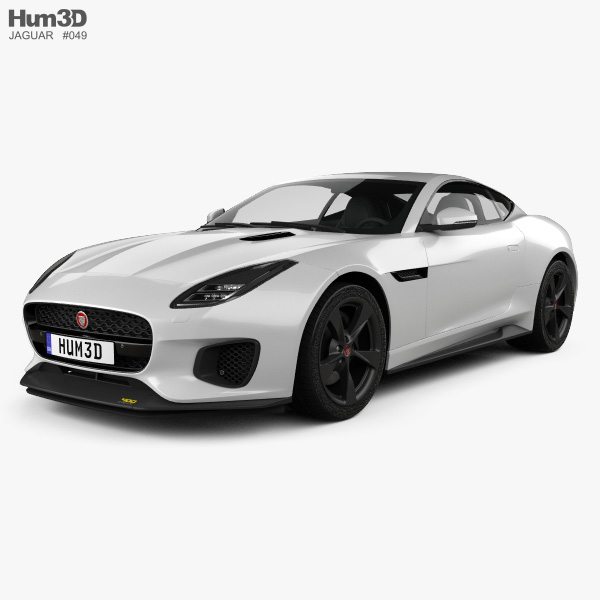 Jaguar F Type: Jaguar F-Type 400 Sport Coupe 2017 3D Model