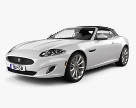 Jaguar XK convertible with HQ interior 2011 3D model