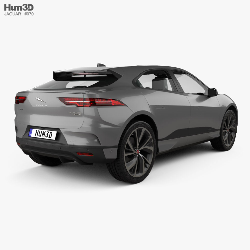 Jaguar I-Pace EV400 HSE with HQ interior and engine 2019 3d model