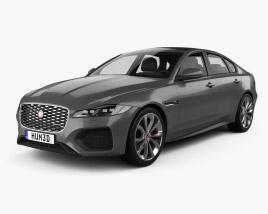 Jaguar XF R-Dynamic 2020 3D model
