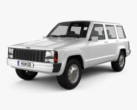 Jeep Cherokee XJ 4-door 2001 3D model