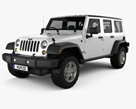 Jeep Wrangler JK Unlimited 5door 2012 3D model