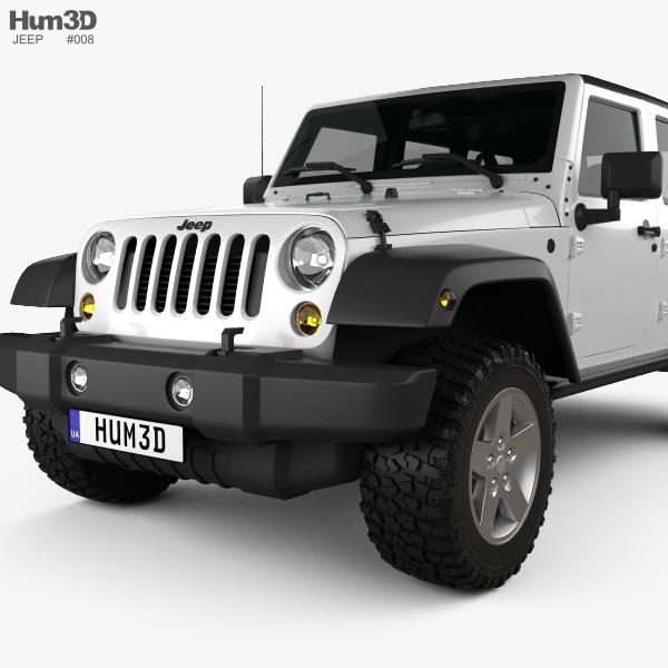 jeep wrangler jk unlimited 5door 2012 3d model hum3d. Black Bedroom Furniture Sets. Home Design Ideas