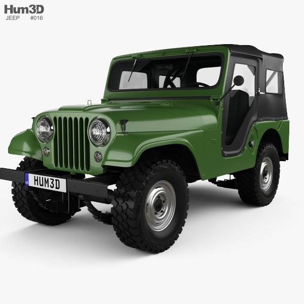 Jeep Wrangler Custom Parts >> Jeep CJ-5 1954 3D model - Vehicles on Hum3D