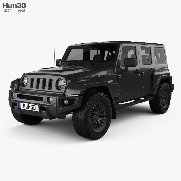 Jeep Wrangler Project Kahn Jc300 Chelsea Black Hawk 4 Door 2016 Model