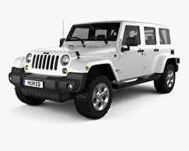 Jeep Wrangler Unlimited Sahara 2012 3D model