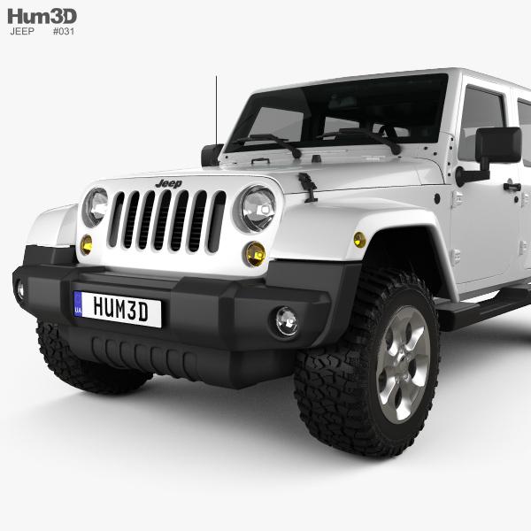 jeep wrangler unlimited sahara 2012 3d model hum3d. Black Bedroom Furniture Sets. Home Design Ideas