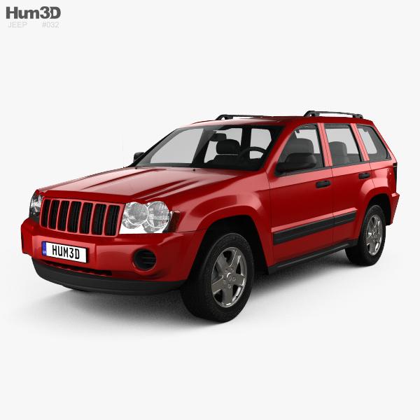 jeep grand cherokee wk laredo 2005 3d model vehicles on hum3d. Black Bedroom Furniture Sets. Home Design Ideas