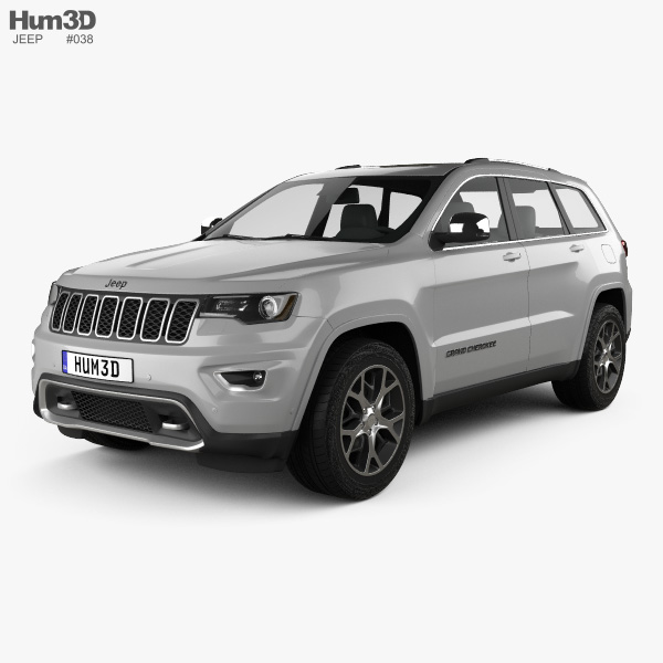 jeep grand cherokee overland 2018 3d model vehicles on hum3d. Black Bedroom Furniture Sets. Home Design Ideas